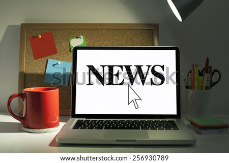 Online News - stock photo