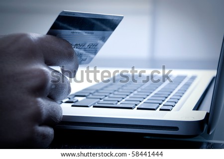 Online payment - stock photo