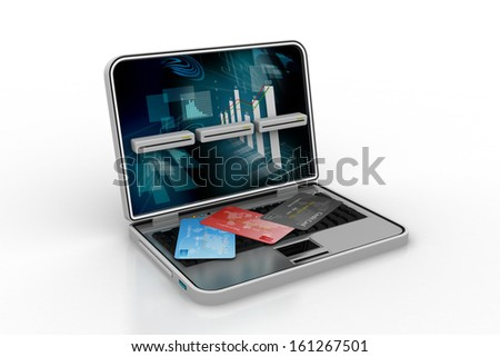Online payments concept. Isolated on white background - stock photo