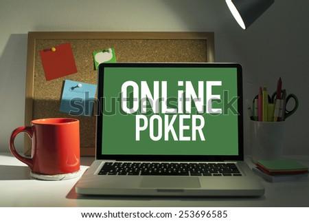 Online Poker - stock photo