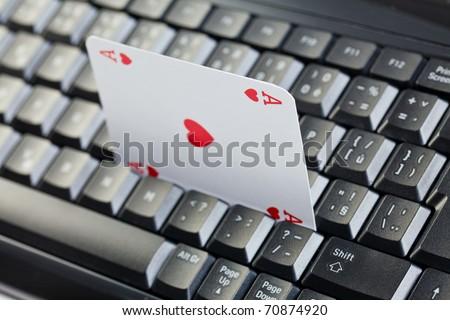 online poker gambling . poker cards - stock photo