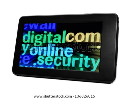 Online security - stock photo