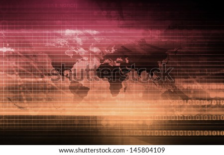 Online Security Internet Concept as a Background - stock photo