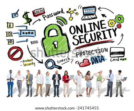 Online Security Protection Internet Safety Business Technology Concept - stock photo