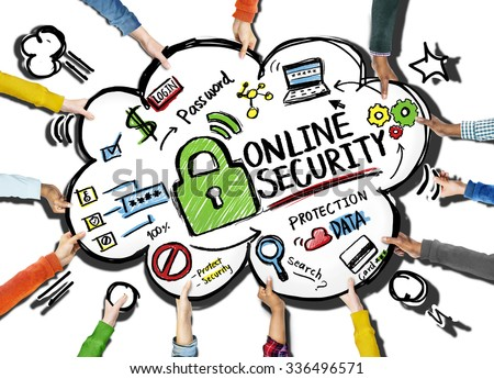 Online Security Protection Internet Safety Support Team Concept - stock photo