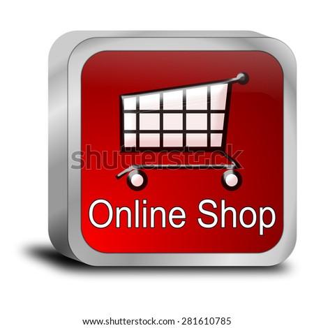 online Shop Button - stock photo