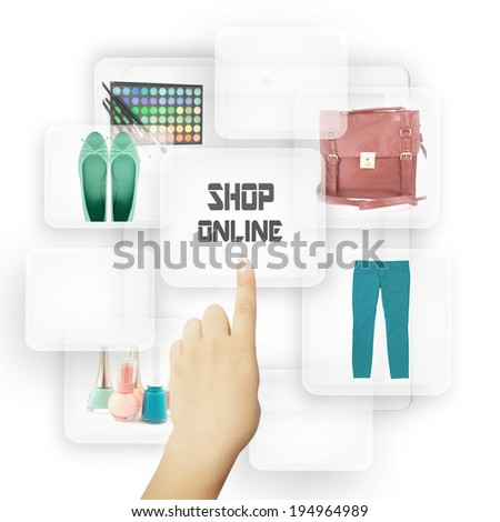 Online Shopping Concept.  - stock photo