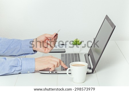online shopping. electronic banking concept. - stock photo