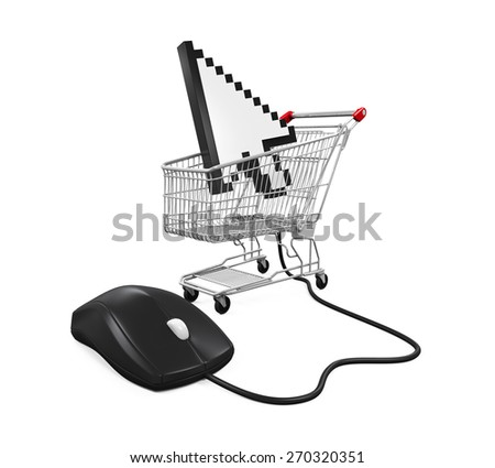 Online Shopping Illustration - stock photo