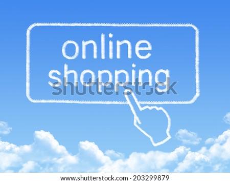 Online shopping message cloud shape - stock photo