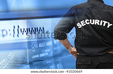 Online shopping security concept - stock photo