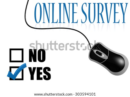 Online survey check mark image with hi-res rendered artwork that could be used for any graphic design. - stock photo