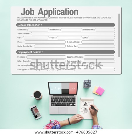Online Web Job Application Form Concept Stock Photo Safe To Use