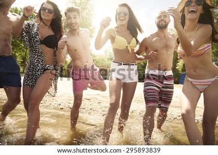 Only cold water can help us - stock photo