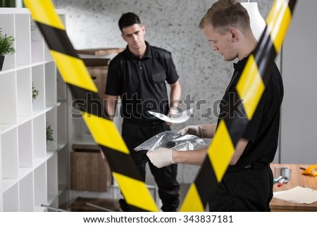 Only police officers can enter the crime scene  - stock photo