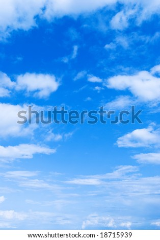 only sky - stock photo