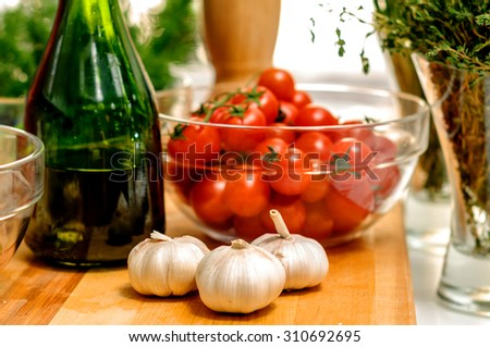 Only the freshest ingredients for this chef - stock photo
