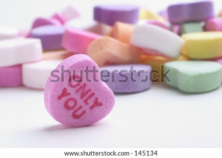 Only You conversation heart - stock photo