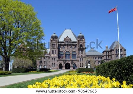 Ontario Parliament Building, Toronto - stock photo