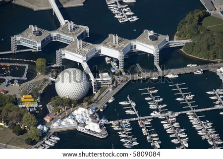 Ontario Place opened in May 1971 and is an internationally acclaimed cultural, leisure and entertainment parkland located in Toronto, Ontario, Canada. - stock photo