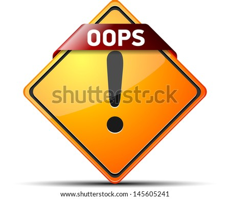 OOPS! - stock photo