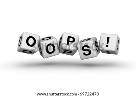 oops (error sign for web page) - stock photo