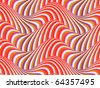 Op Art Flowing Stripes 01 08 - stock vector