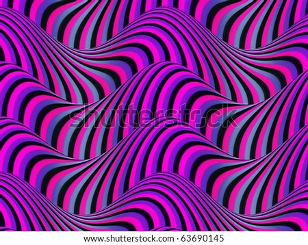 Op Art Flowing Stripes 01 05 160 - stock photo