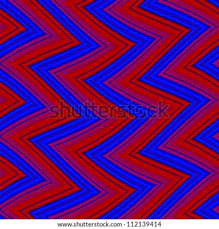Op Art Seamless Waves Texture Blue and Red