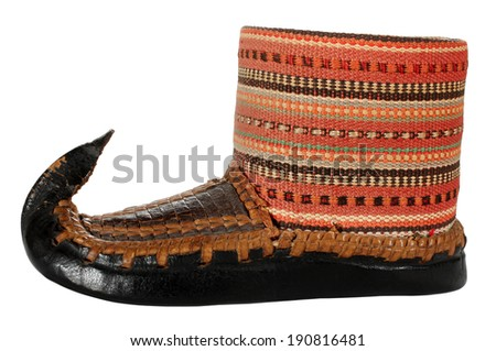 Opanak old traditional Serbian shoe souvenir