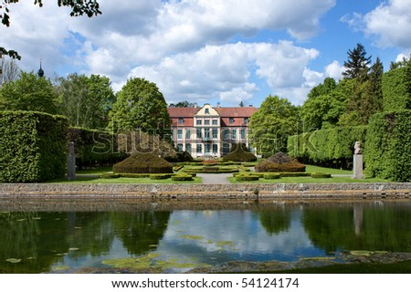 Opatow palace and park in Gdansk Oliwa, Poland.