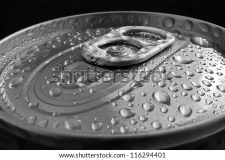 Open Aluminum Can - stock photo