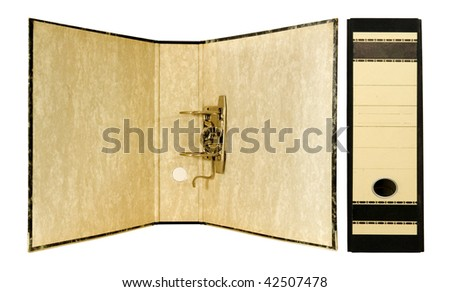 open and closed binder - stock photo