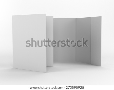 open and closed standing folders - stock photo