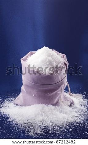 open bag full of snow - stock photo