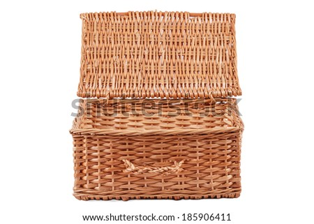 Open Basket Isolated on a White Background  - stock photo