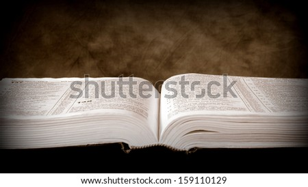 Open Bible, with textured  background.