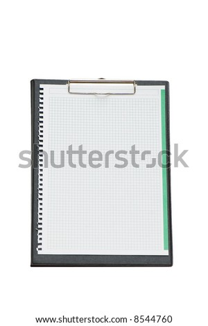 Open binder isolated on the white background