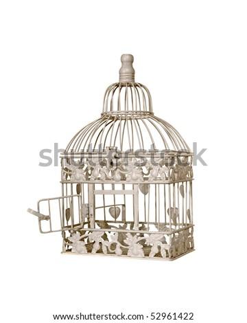 Open birdcage - stock photo