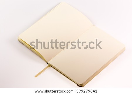 Open Blank Book - stock photo