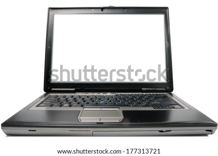 Open blank laptop  - stock photo