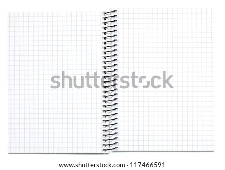 open blank notebook isolated