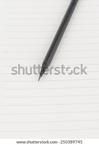 Open Blank Page notebook - stock photo