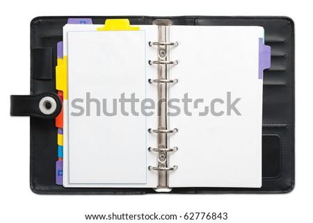 Open blank Personal Organizer - stock photo