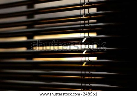 open blinds - stock photo
