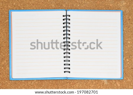 Open book big size isolated on background - stock photo
