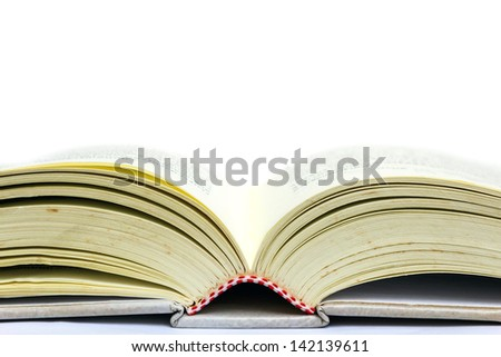 Open book close up - stock photo