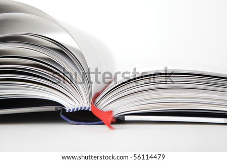 Open book, close- up - stock photo