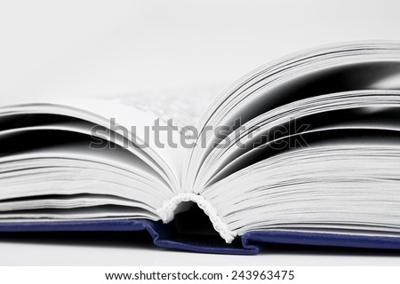 Open book close-up background - stock photo
