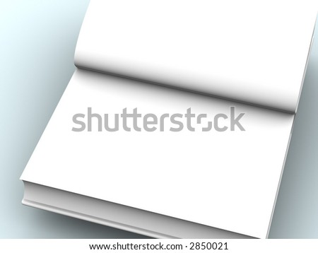 open book 3d - stock photo